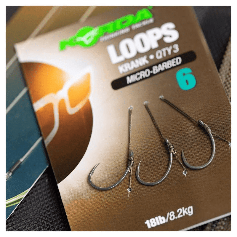 Korda Loops Wide Gape Barbless - taskers-angling