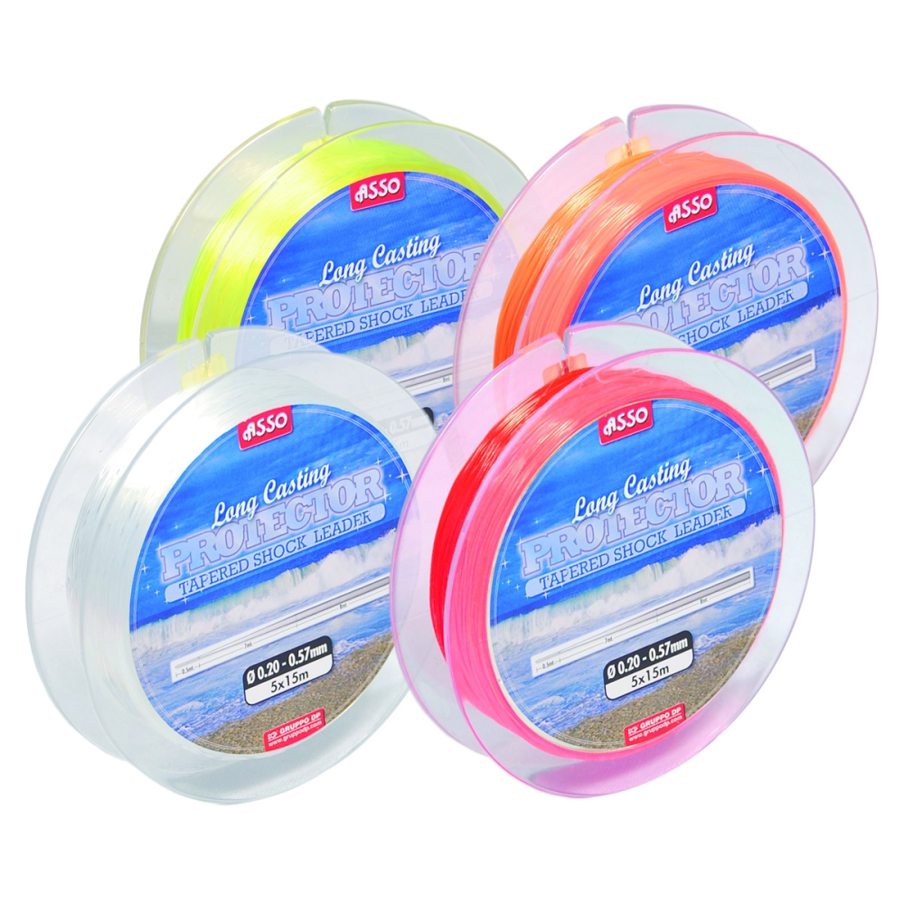 Asso Tapered Shock Leaders Clear - taskers-angling