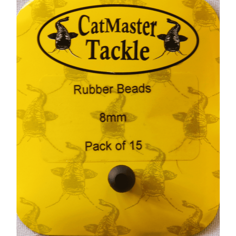 CatMaster Hard Beads Black 8mm - taskers-angling