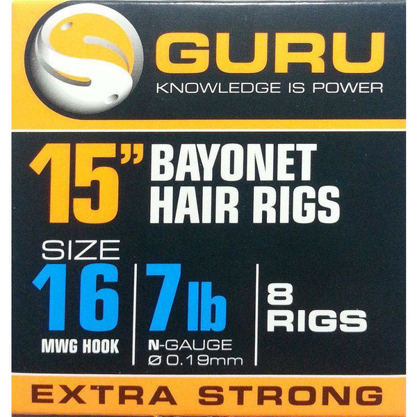 Guru Bayonet Hair Rig 15in MWG