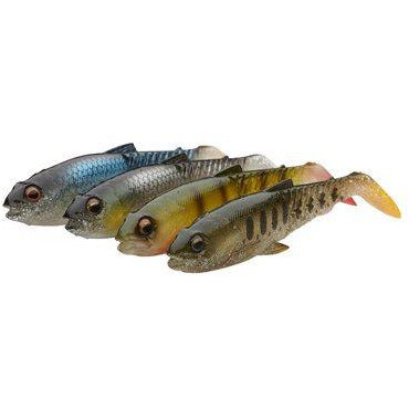 CRAFT CANNIBAL PADDLETAIL 10.5CM 12G CLEAR WATER MIX 4PCS