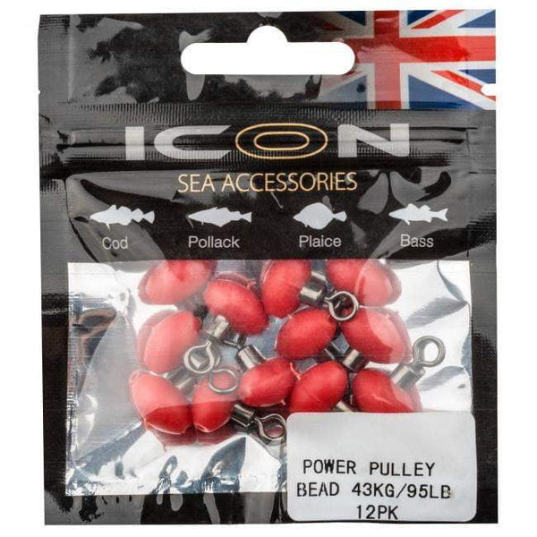 Icon Power Pulley Bead 95lb - taskers-angling