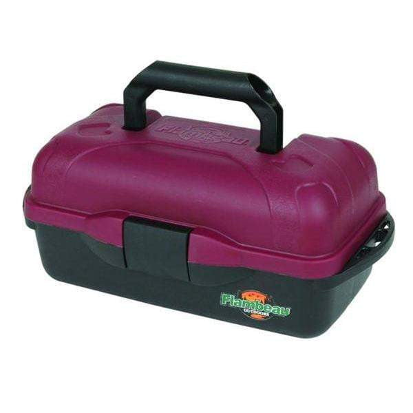 Flambeau 1 Tray Classic Tackle Box Pink - taskers-angling