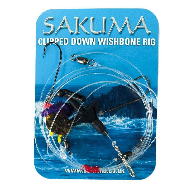 Sakuma 2 Hook Wishbone Clipped Down Rig - taskers-angling