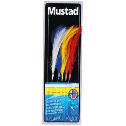 Mustad 5 Hook Multi Colour Feathers 1/0