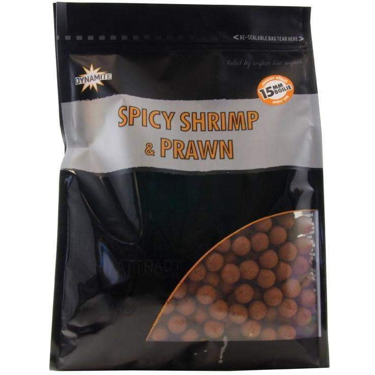 Dynamite Baits Spicy Shrimp & Prawn Boilies 15mm 1kg - taskers-angling