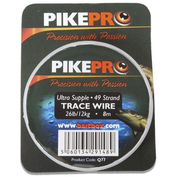PikePro Trace Wire 49 Strand 8m - taskers-angling