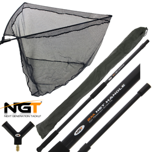 NGT 42in Black Rubber Specimen Net & Handle Combo