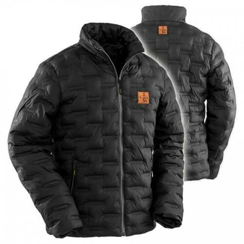 Vass Quilted Ultra Rib Coat Black