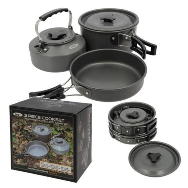NGT 3pc Kettle And Pan Set