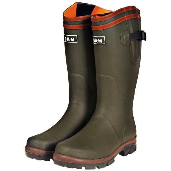 Dam Flex Neoprene Rubber Boot - Green