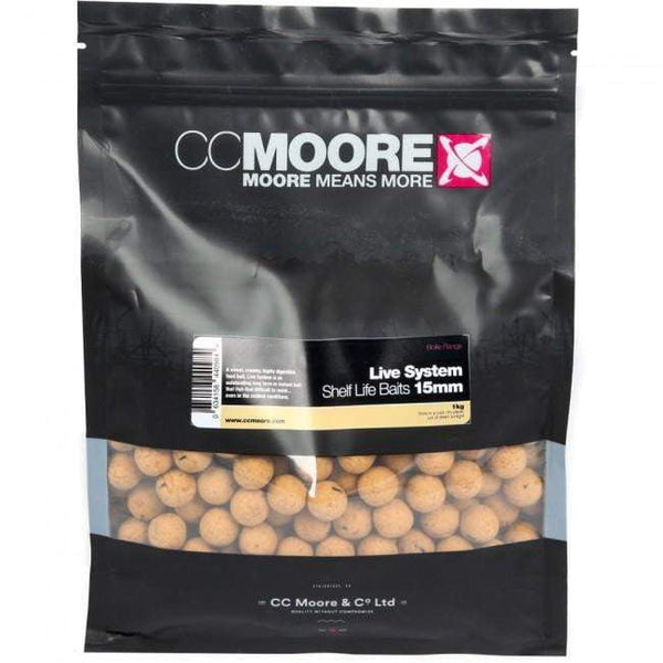 C C Moore Live System SHELF Baits 15mm 5kg - taskers-angling