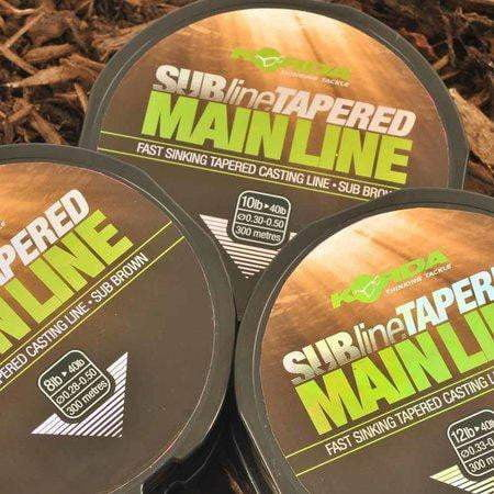 Korda Subline Tapered Mainline Brown - taskers-angling