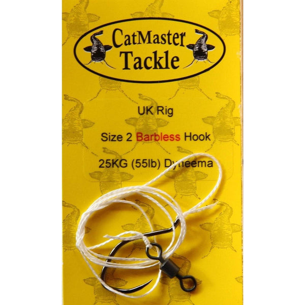 CatMaster Standard Rig Barbless hook to 25kg (55lb) Dyneema - taskers-angling