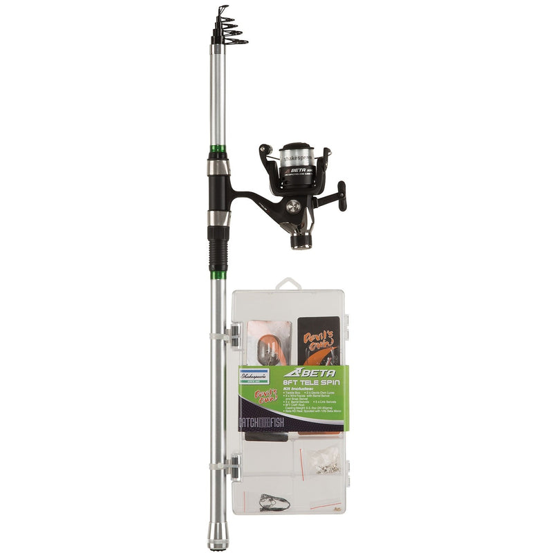 Shakespeare  Catch More Fish 2 6ft Tele Spin Combo 20-60g