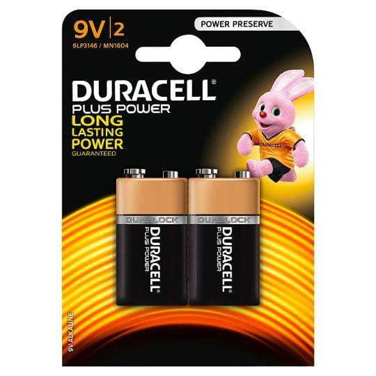 DURACELL 9V TWIN PACK - taskers-angling