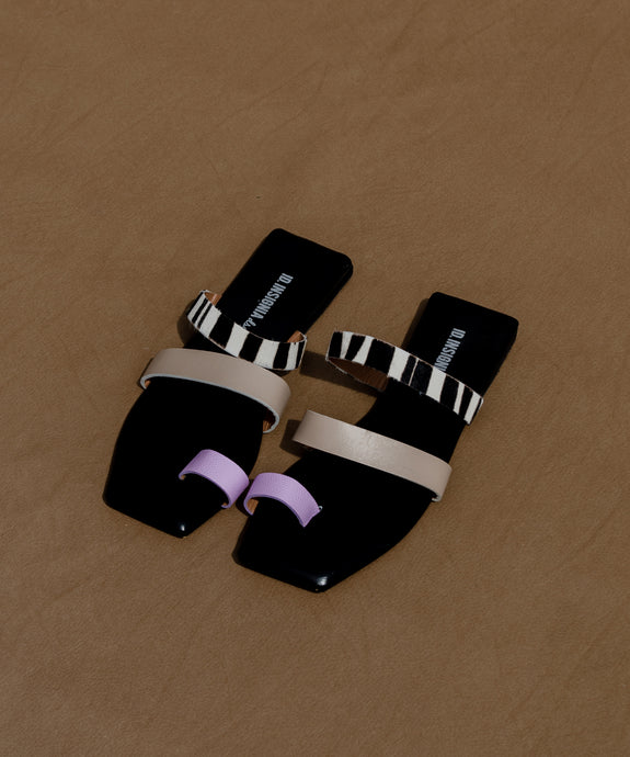 The Ocaso sandal – lila/taupe