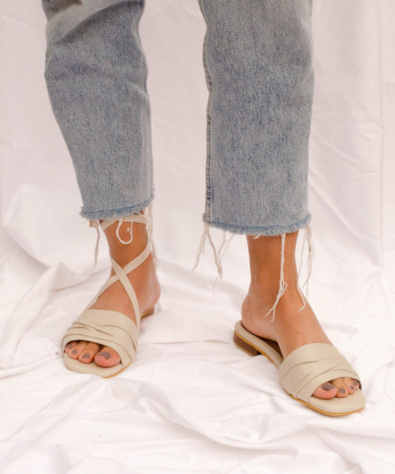 Luna duo sandals - hueso
