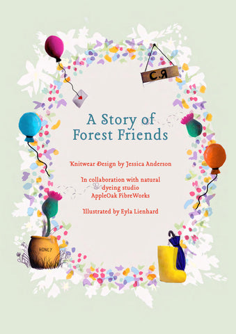 A Story of Forest friends Book Cover Artwork