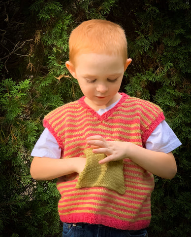 A Very Small Vest Complete with a Pocket for Collecting Haycorns, Sleeveless Vest with Pocket