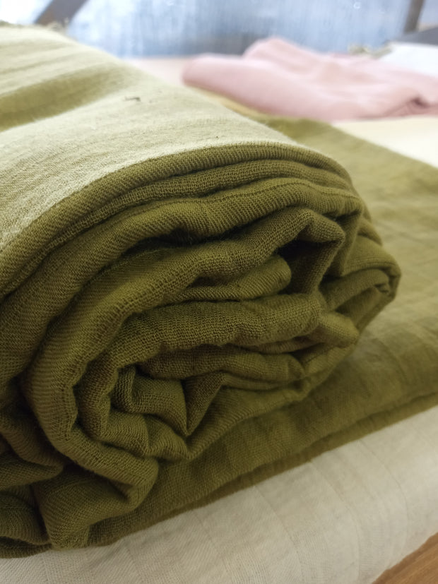 Organic Double Layered Cotton Muslin Naturally Dyed