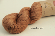 Black Walnut dyed yeti yarn