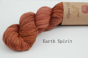 Earth Spirit - Rhubarb dyed Alpaca Yarn