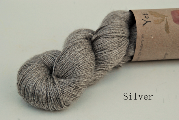 Yeti - Yak and Silk yarn Silver