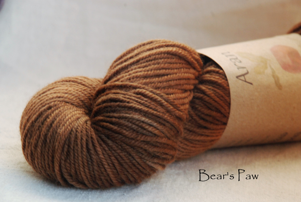 Bear's Paw naturally dyed with hawthorn berries