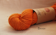 Bronze Aran yarn naturally dyed with onion