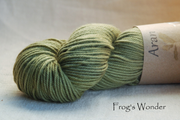 Frog's Wonder aran yarn naturally dyed with sage