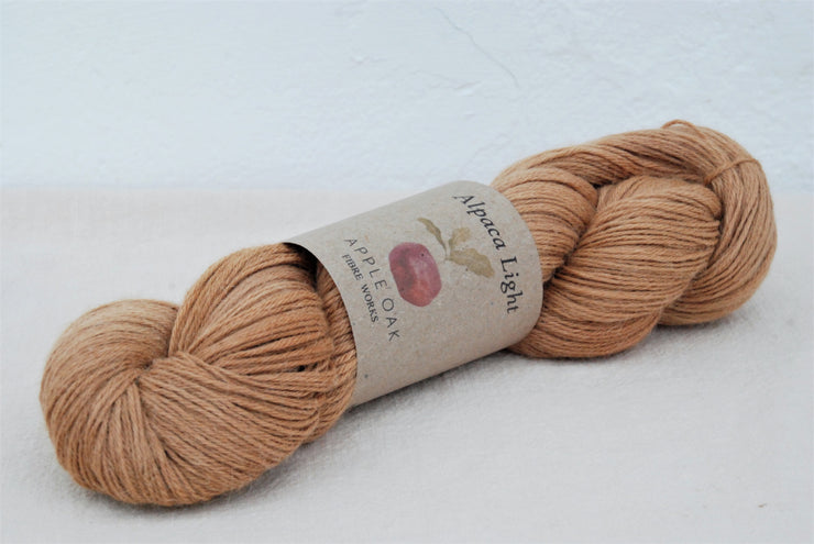 Catechu dyed Alpaca Yarn