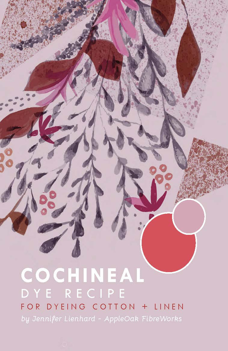 Cochineal Dye Instructions for Cotton + Linen (PDF)