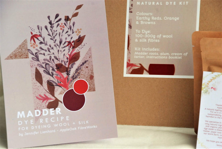 Madder dye kit for wool