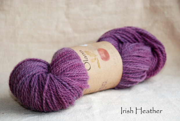 Irish Heather Olann Naturally dyed Irish Wool Yarn
