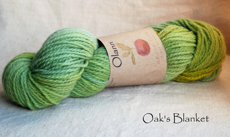 Oak's Blanket Olann Naturally dyed Irish Wool Yarn