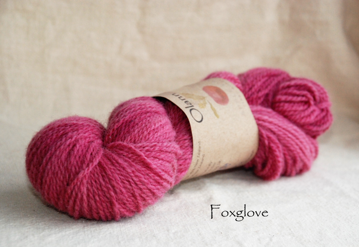 Foxglove Olann Naturally dyed Irish Wool Yarn