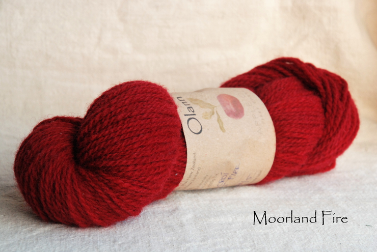 Moorland Fire Olann Naturally dyed Irish Wool Yarn