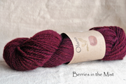 Berries in the Mist Olann Naturally dyed Irish Wool Yarn