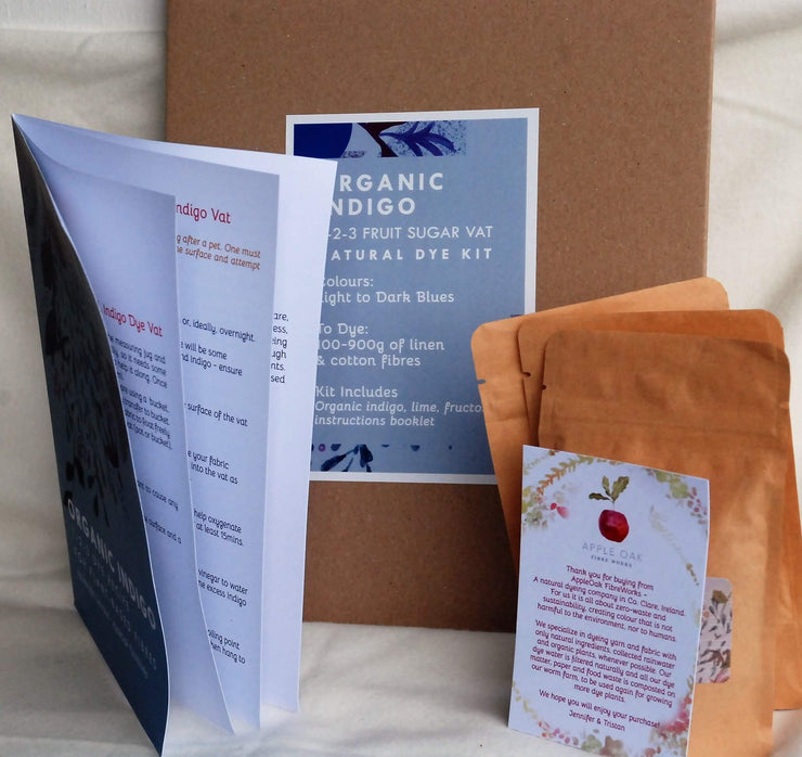 Organic INdigo Vat Recipe booklet and kit