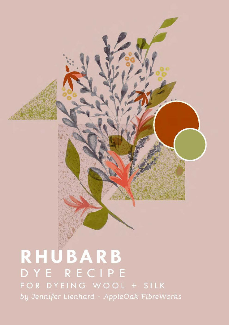 Rhubarb Dye Instructions for Wool + Silk (PDF)