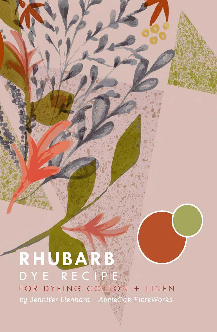 Rhubarb Dye Instructions for Cotton + Linen (PDF)