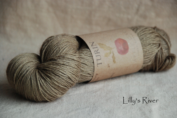 Turin ~ Lilly's River  naturally dyed yarn with Rhubarb