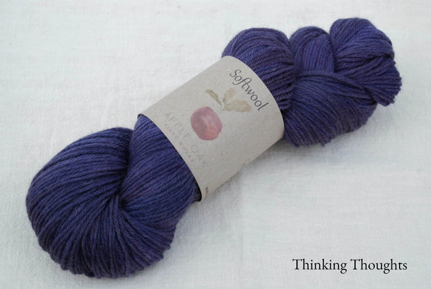 Softwool dyed with logwood