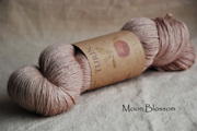 Turin ~ Moon Blossom naturally dyed yarn with Organic Hibiscus
