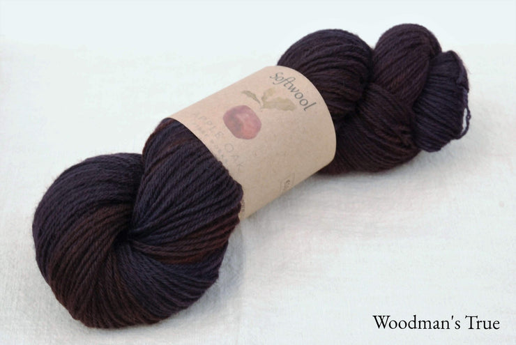 Softwool dyed with logwood and Madder
