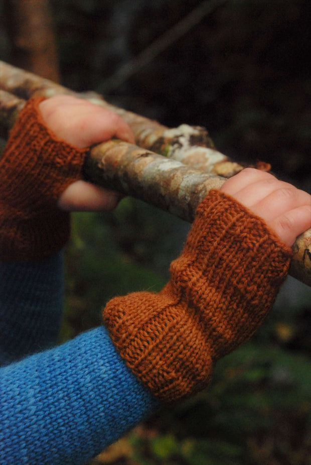A Story of Forest Friends Pattern fingerless Mittens Rabbit