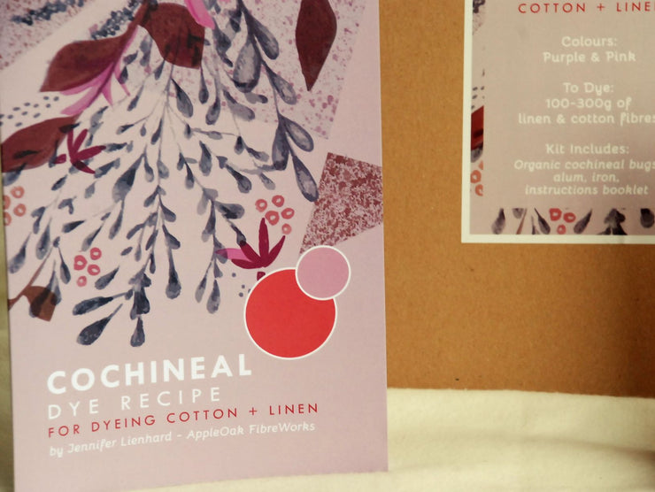 Cochineal Dye Kit for Cotton and Linen