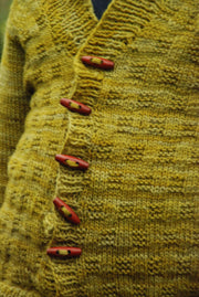 A Story of Forest Friends Pattern C.R. Cardigan Detail