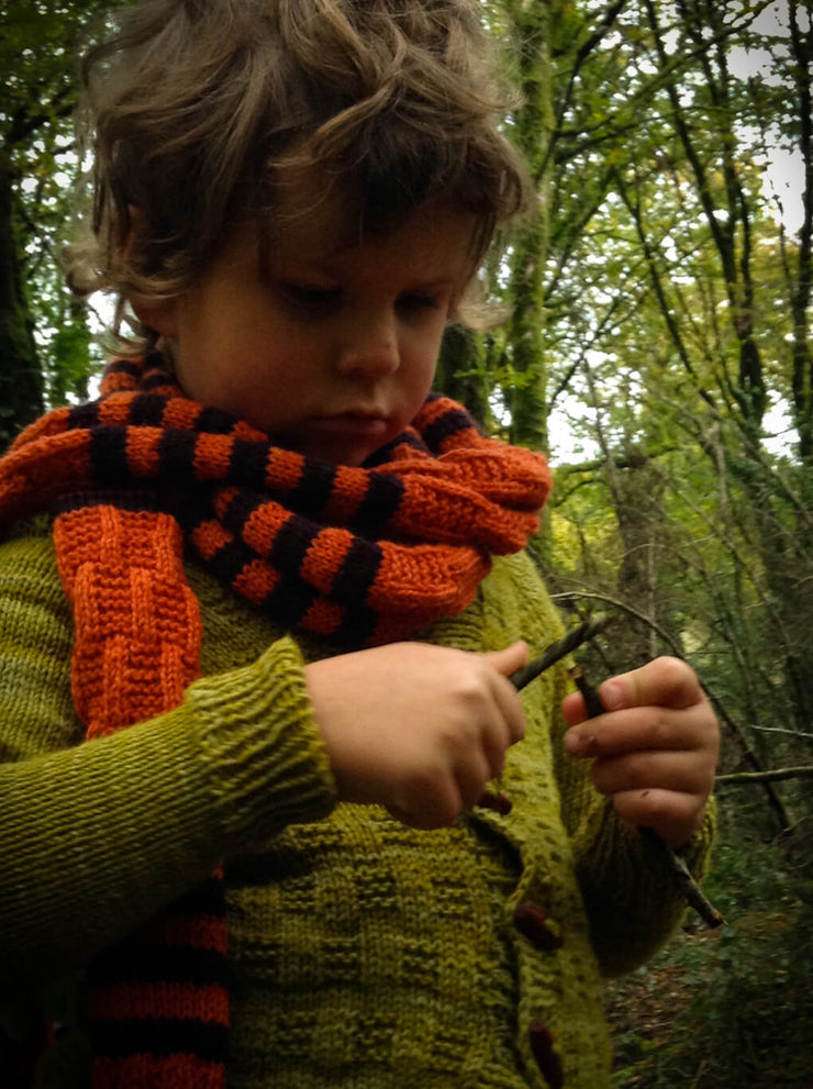 A Story of Forest Friends Pattern Tigger Scarf